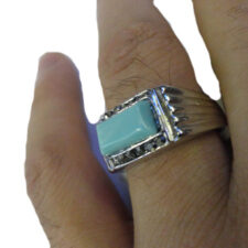 Blue Rectangle Square Ring